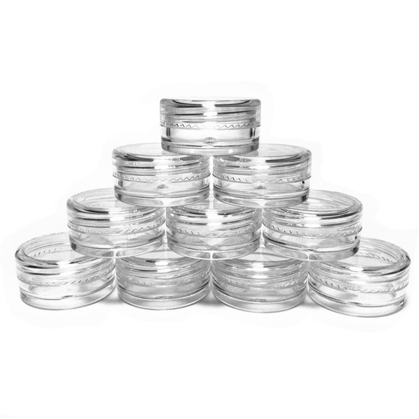 Plastic Wax Containers capacity 3ml Jar Box Cases Wax Holder container Food Grade Wax Tools Storage For Silicone Pipes Smoking Glass Bongs