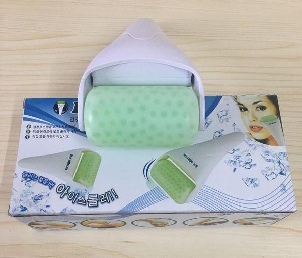 Drop ship Ice Roller New Skin Massager For Face Body Massager Skin Preventing Wrinkles Skin Cool Derma Tool Plsatic green Head