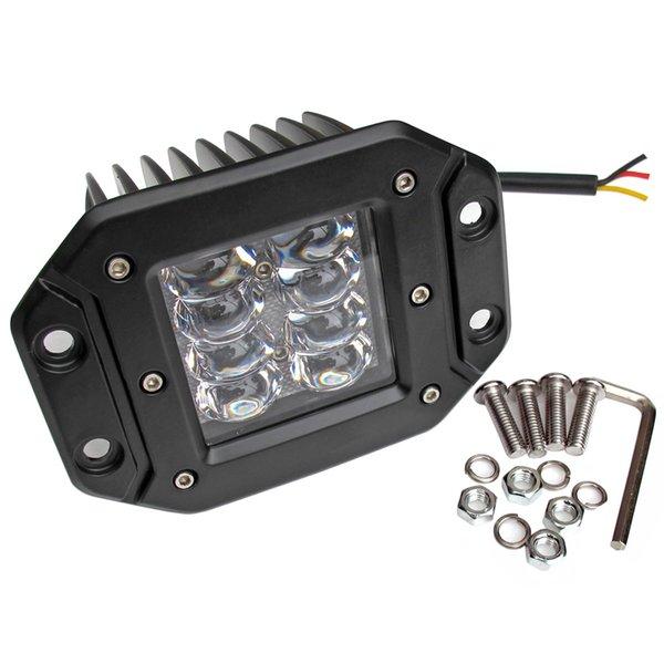 6d lens 5 inch 24w led work lights 12v 4x4 off road flush mount strobe driving lights