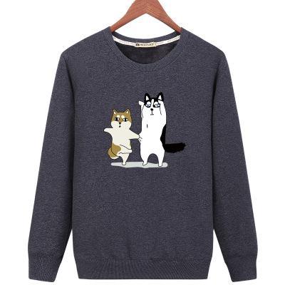 73482fb0 Cute Cartoon Dog Printing Black Sweatshirt Women Autumn Long Sleeve O-Neck  Anime Hoodie Casual