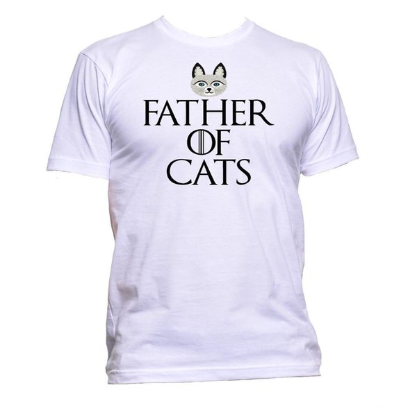 T-Shirt Father Of Cats Uomo Donna Moda Unisex Slogan Comedy Cool Divertente Regalo Taglie Discout Hot New Tshirt Camicie di marca jeans Stampa