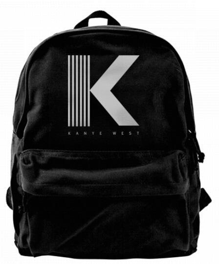 L'identité visuelle de Kanye West white Mode Canvas designer sac à dos Pour Hommes Femmes Adolescents Collège Voyage Daypack Loisirs sac