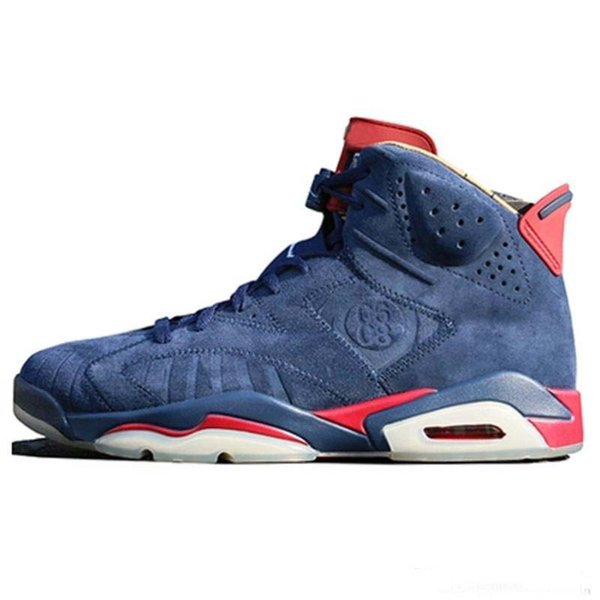2019 designer 6s doernbecher mens basketball shoes 6 db navy blue suede man trainers chaussure de basket ball sports sneakers size 7-13