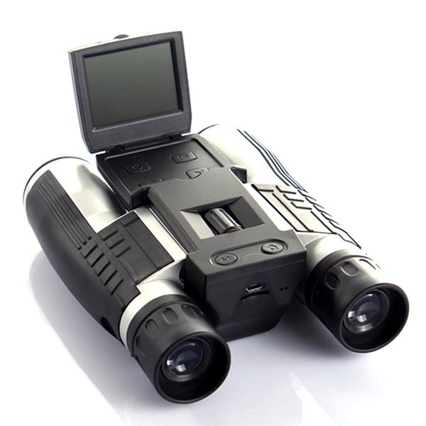 "2"" Screen 5MP CMOS 12X32 Binoculars Digital Camera HD 1080P Video DVR Recording USB Zoom Telescope for Tourism Hunting Photo TF"