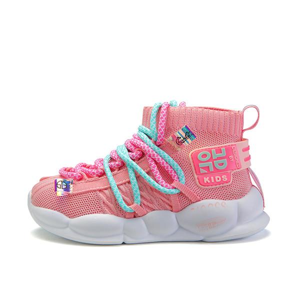Novas Crianças Casual Luz Sneakers for Kids Calçados Meninos Sneakers Crianças Running Shoes Escola de Formadores respirável Moda Confortável