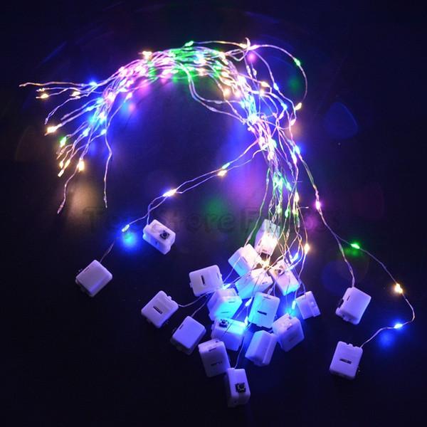 LED kolye çelenk için 10 lambalar LED dize - üç vites pozisyonları sürekli parlak / flaş ayarlanabilir