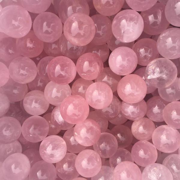 5pcs High quality Natural gemstone 100% natural pink rose quartz stone Tiny ball quartz crystal sphere healing crystals as gift