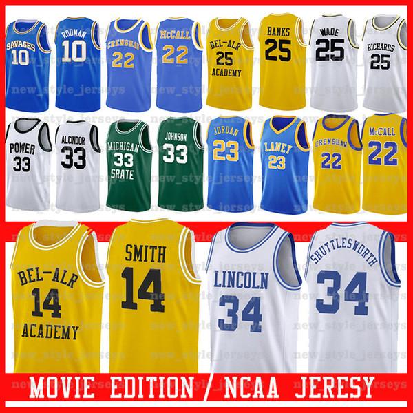 Spartans do Estado de Michigan Earvin Johnson SHUTTLESWORTH Filme da Academia Lincoln Bel-Air 14 Will Smith 25 Carlton Banks MEMÓRIA DE PODER DE CRENSHAW