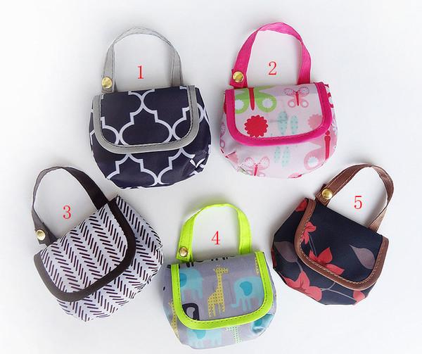 Bebek Bezi Çanta Taşınabilir Nappy Emzik Aperatifler cep para Saklama Çantası baskı Bezi Çanta Bebek arabası çanta B1121