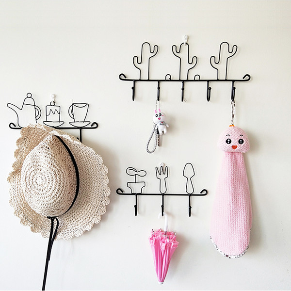 Hot Sale Decorative Wall Hooks for clothes key holder towel hanger storage rack home organizer