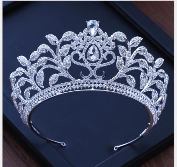Cocar folha De Cristal De Diamante Coroa Acessórios Do Casamento Vestido De Noiva Decoração Banquete