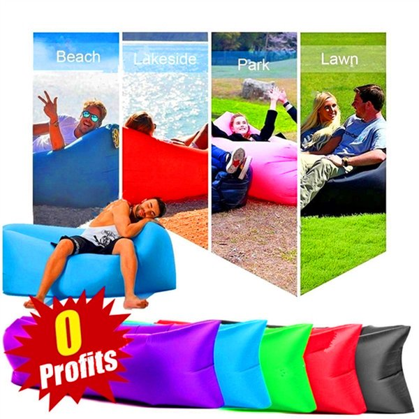 Pleasant Portable Inflatable Floating Air Bed Sleeping Sofa Chair Bed Couch Casual Camping Beach Travelling Hiking Park Beach Folding Bed Furniture Online Bar Theyellowbook Wood Chair Design Ideas Theyellowbookinfo