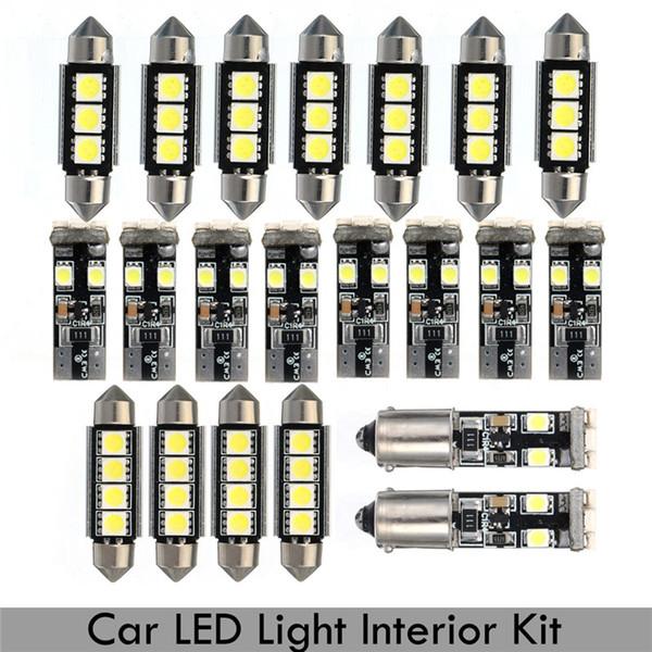 21pcs Auto Interior Light LED Dome map Lamp Kit License Plate Light led Reading light bulbs For BMW E46 Sedan M3 1999-2005