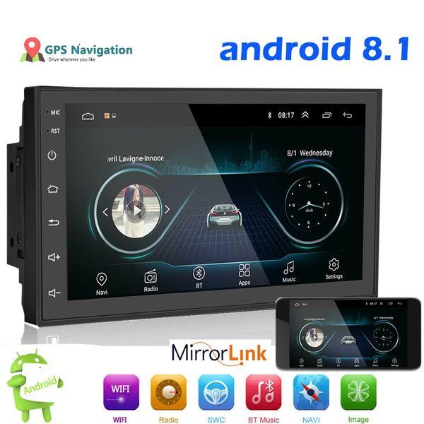 "top popular Car Multimedia Player Andriod GPS Navigation 2DIN HD Autoradio WiFi USB FM 2 Din 7"" Car Audio Radio Stereo Backup Monitor 2021"