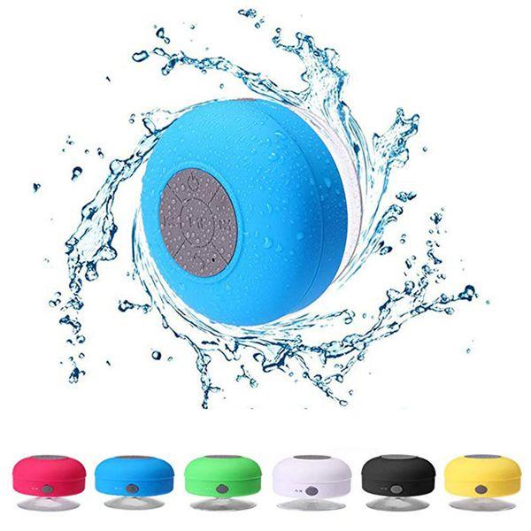 À prova d 'água Sem Fio Bluetooth Speaker Mini Alto-falantes Do Chuveiro Subwoofer Portátil Car Handsfree Receba Chamada Música Sucção Mic Para smartphones