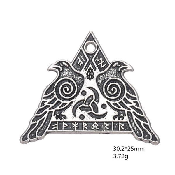 20 stücke Antikes silber vintage tibetanische Valknut Odin Norse Viking Warriors charme anhänger für halskette armband ohrring diy schmuck machen