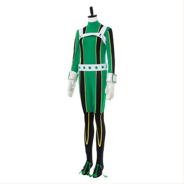 Anime Boku No My Hero Academia Tsuyu Asui Cosplay Jumpsuit Costume Outfit Halloween Carnival Costume Bodysuit Female Cosplay Costumes Link Cosplay