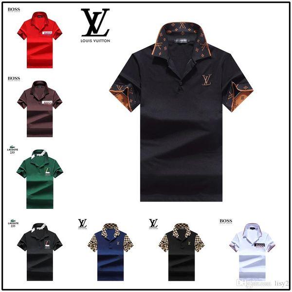 Camiseta de lujo con diseño de camiseta de Italia Camiseta de polo High Street Bordado Liguero de impresión Ropa para hombre Marca Polo