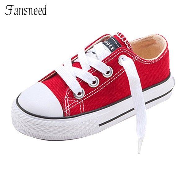 2019 New Classic Children Canvas Shoes Girls Boys Candy Sneakers Tendon Sole Casual Shoes Solid Color Chaussures Garcon Enfant Y19051303