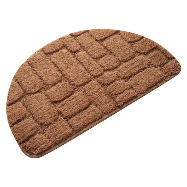 Anti-slip Living Room/Bedroom Carpet 40*68 50*80cm Rugs For Kitchen Semicircle Soft Bathroom Water Absorption Floor Mat Foot Pad
