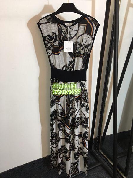 Lady Bohemain Elbiseler Geometrik Çok Yaz Polyester Kolsuz Kısa Ekip Boyun Ayak Bileği Uzunlukta Elbise Etek Gömlek Elbise 2019 S-L