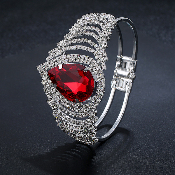 Wish explosion jewelry bridal jewelry wholesale fashion stage accessories claw chain opening silver plated water drops bracelet