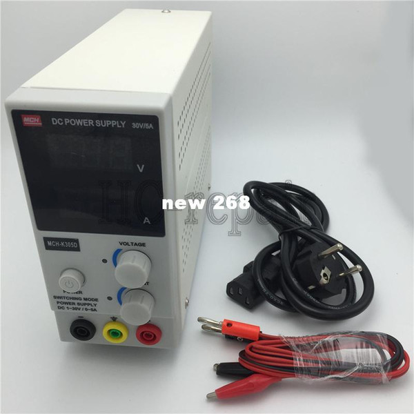 Freeshipping New Design MCH-K305D Mini Switching Regulated Adjustable DC Power Supply SMPS Single Channel 30V 5A Variable MCH K305D