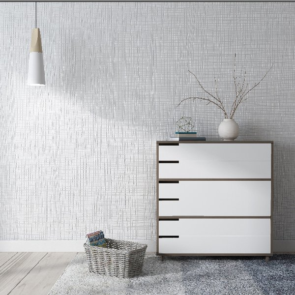 Wholesale Luxury Modern Minimalist White Plain Bedroom Living Room Non Woven Grey Home Wall Paper Light Gray Linen Nordic Wallpaper Wallpaper Designs