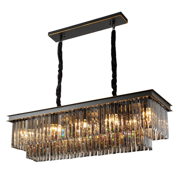 Rectangular Chandelier Modern Restaurant Lights Crystal Chandelier Luxury Dining Room Lamp Bar Vintage Chandelier Retro Chandeliers Rustic Chandeliers