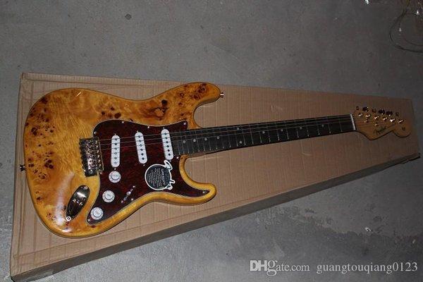 legno nave RFDER Nuovo F Accessori d'oro tastiera in palissandro 6 corde chitarra elettrica