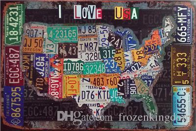love usa route 66 day mancave plinup girl 20*30cm motorbicycle Tin Sign Coffee Shop Bar Restaurant Wall Art decoration Bar Metal Paintings