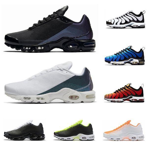 nike air max TN Plus SE chaussures de course pour entraîneur pour hommes triple black Volt Peinture en aérosol Bright Cactus Hyper Blue hommes baskets de sport coureur extérieur