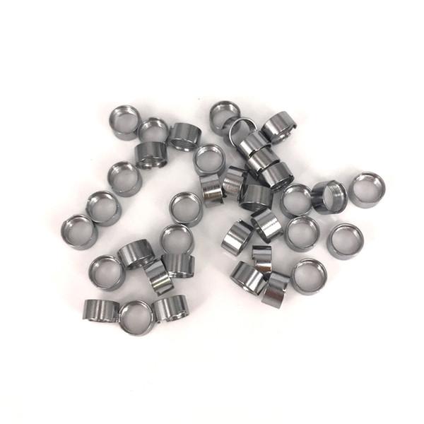 Instock Adaptateur magnétique Bagues métalliques pour 510 fil Cartouches de vapeurs d'huile d'extrait Fit M6T Th2 dank vapes mario chariots atomiseur jetable