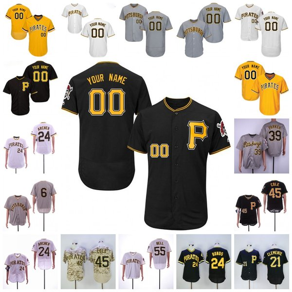 cheap for discount cb609 c0de8 2019 Pirates Jersey Chris Archer Pittsburgh Roberto Clemente Josh Bell Cole  Corey Dickerson Marte Tucker Jameson Taillon Jung Ho Kang Kuhl Honus From  ...