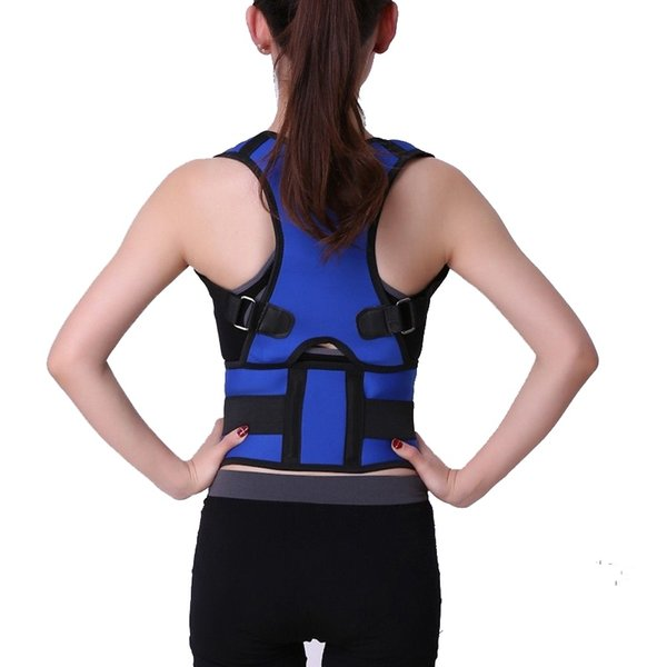 KSY Men Women Neoprene Shoulder Back Support Belt Magnetic Therapy Posture Corrector Brace Braces & Supports Belt #256149