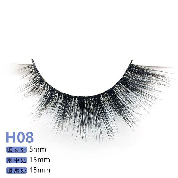 H serie 20 stil 5 paare / satz 3D nerz Falsche Wimpern 5 Paare 3D Natürliche Lange Gefälschte Wimpern H08
