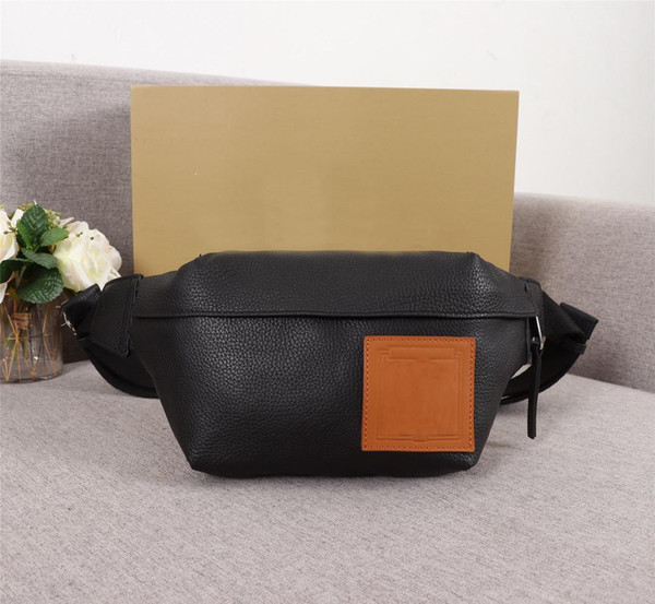 Classic black canvas leather small pockets Suitable for men and women couples sports casual cross body bag high quality low price