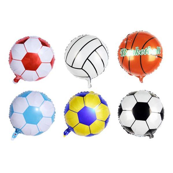 5pc 10inch Mini Football/Soccer Foil Balloons DIY Birthday Baby Shower Children's Day Bar KTV Decoration Theme Party Supplies