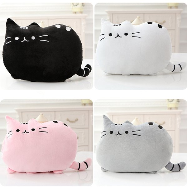 Kawaii Cat Pillow With PP Cotton inside Biscuits Kids Toys Doll Plush Baby Toys Big Cushion Cover Peluche Gift for friends kids