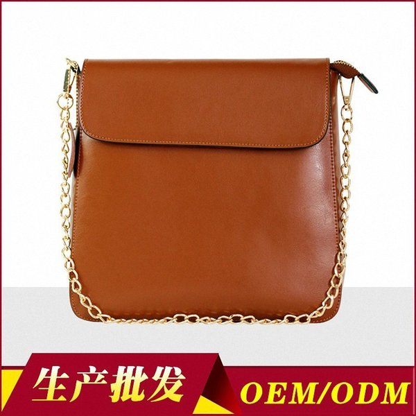 Charm2019 European Concise Style Pattern Ma'am Bag Vertical Section Square Chain Single Shoulder Genuine Leather Woman Package