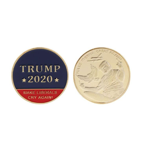 2020 Donald Trump 45th President Challenge Coin Commemorative Novità Coin L'oggetto da collezione progettato