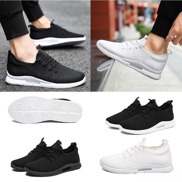 scarpe da ginnastica atletica elasticità stile traspirante donne uomini moda triple net bianche allenatore nero sneakers sport progettista 39-45