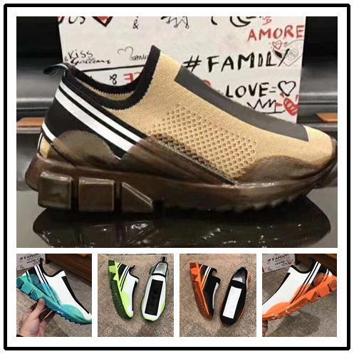 Chaussures de sport pour hommes occasionnels Maille Tissu Stretch Jersey Sorrento Slip-on Sneaker Mode hommes Chaussures en caoutchouc bicolores Micro Sole respirant