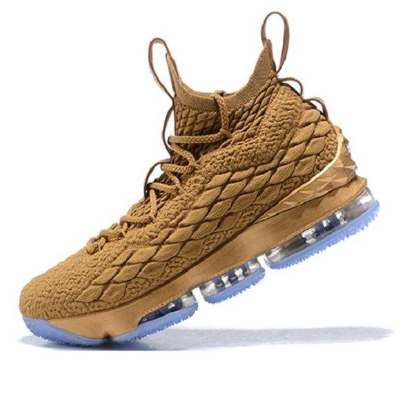 Marka LBJ 15 s 15 Basketbol Ayakkabı Siyah Beyaz CAVS Erkek ayakkabı 15 s EP tasarımcı eğitmenler erkek sneakers Boyut 7-12