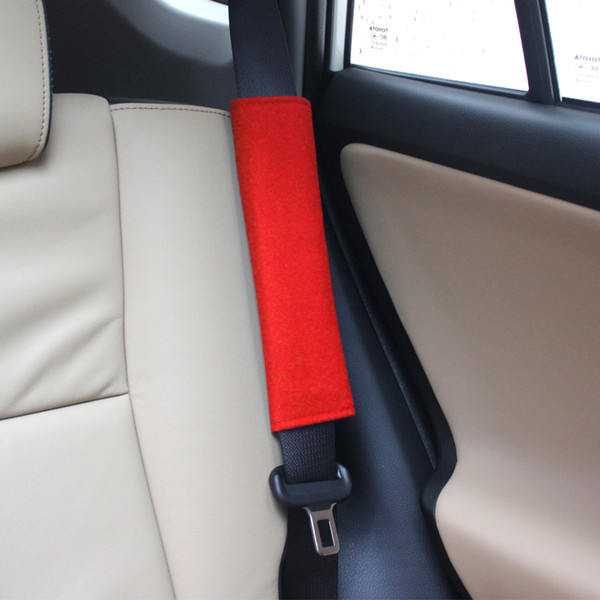 2PCS Car Seat Belt Protector Adult Children Safety Strap Shoulder Pad Cover Gray