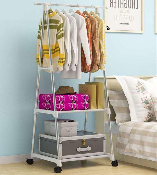 2019 Simple Assembly Coat Rack Removable Hanger Family Bedroom Coat Rack  Floor Hangers Floor Clothes Rack Multi Functional From Yibeauty, $37.8 | ...