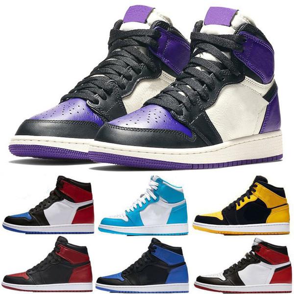 1 OG Spider-Man Banned Wide Toe Chicago Royal Blue while Outdoor basketball shoes sneakers Shattered Backboard but sports designer size 13