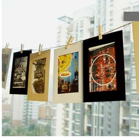 10Pcs Retro photo frame vintage kraft paper showing photograph frame simple frame gift home hanging decoration prop supplies A35