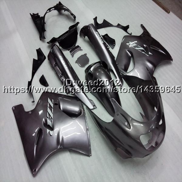 Capucha de motocicleta Screws + Gifts silvergray para Kawasaki ZX11 ZX11R 1990 1991 1992 ABS plástico carenado