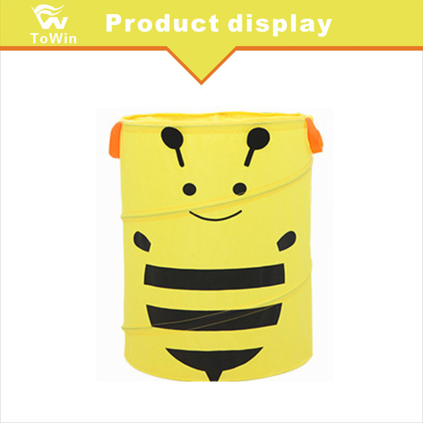 Hanging Style Car Garbage Bag Big Capacity Mini Rubbish Bin Interior Accessories Storage Can Oxford Fabric Trash Container Cartoon Bee Mixed